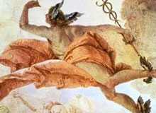 У какого Бога были крылья на сандалиях?