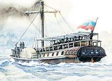Что из себя представляли первые океанские пароходы?