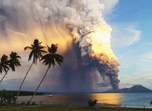 Вулкан Мон Пеле на острове Мартиника извержение