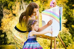 Почему все дети рисуют. Детский мольберт и другие изобразительные средства.