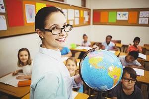 Физический глобус с рельефом для школы и дома