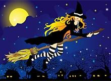 На чем путешествует ведьма?