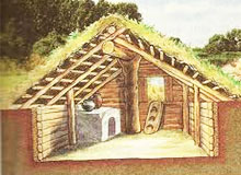 Когда начали строить первые дома?