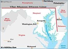Почему возникла линия Мэйсона-Диксона?